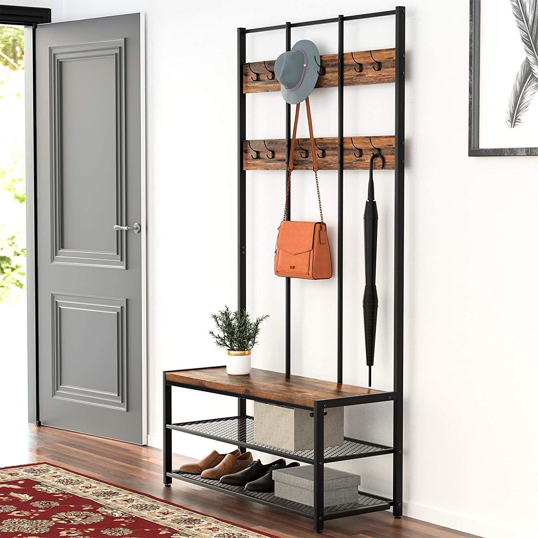 Entryway Storage In 2020 Entryway Storage Wood Shoe Rack Entryway Storage Shelf