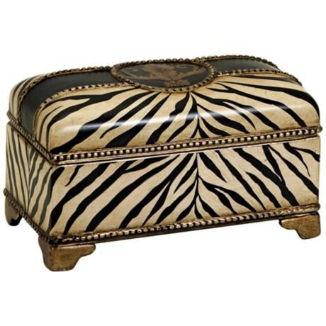 Carolyn Kinder Zebra Ceramic Box