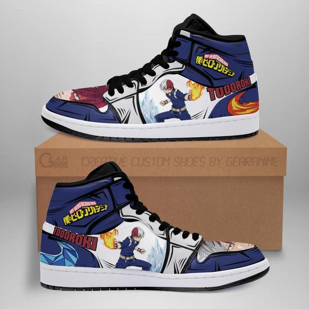 Todoroki Shoto Jordan Sneakers Custom My Hero Acad