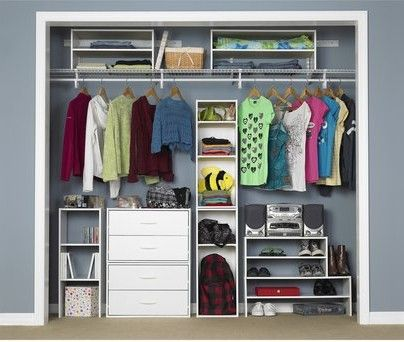 Closet Bottom Closetmaid 3 Shelf Vertical Stacker Two