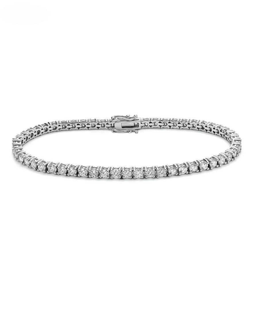Macy S Diamond Tennis Bracelet 4 Ct T W In 14k White Gold Reviews Bracelets Jewelry Watches Macy S Tennis Bracelet Diamond White Gold Bracelet Diamond Necklace Designs