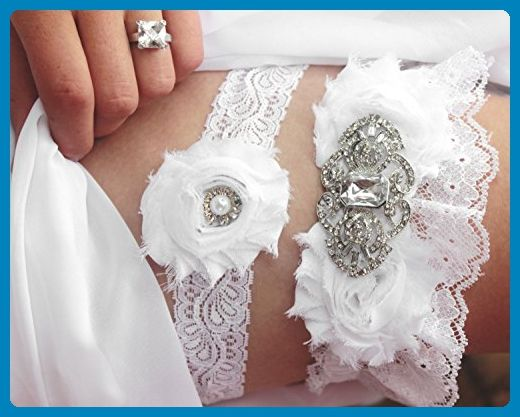 White Lace Wedding Garter W/ Bling Winter Wedding Garder Set, Plus Size Garter, Wedding Accessories, Bridal Lingerie, Snowflake Silver Diamond Rhinestone Garter Set - garderbelt, bridal garter - Bridal garters (*Amazon Partner-Link)