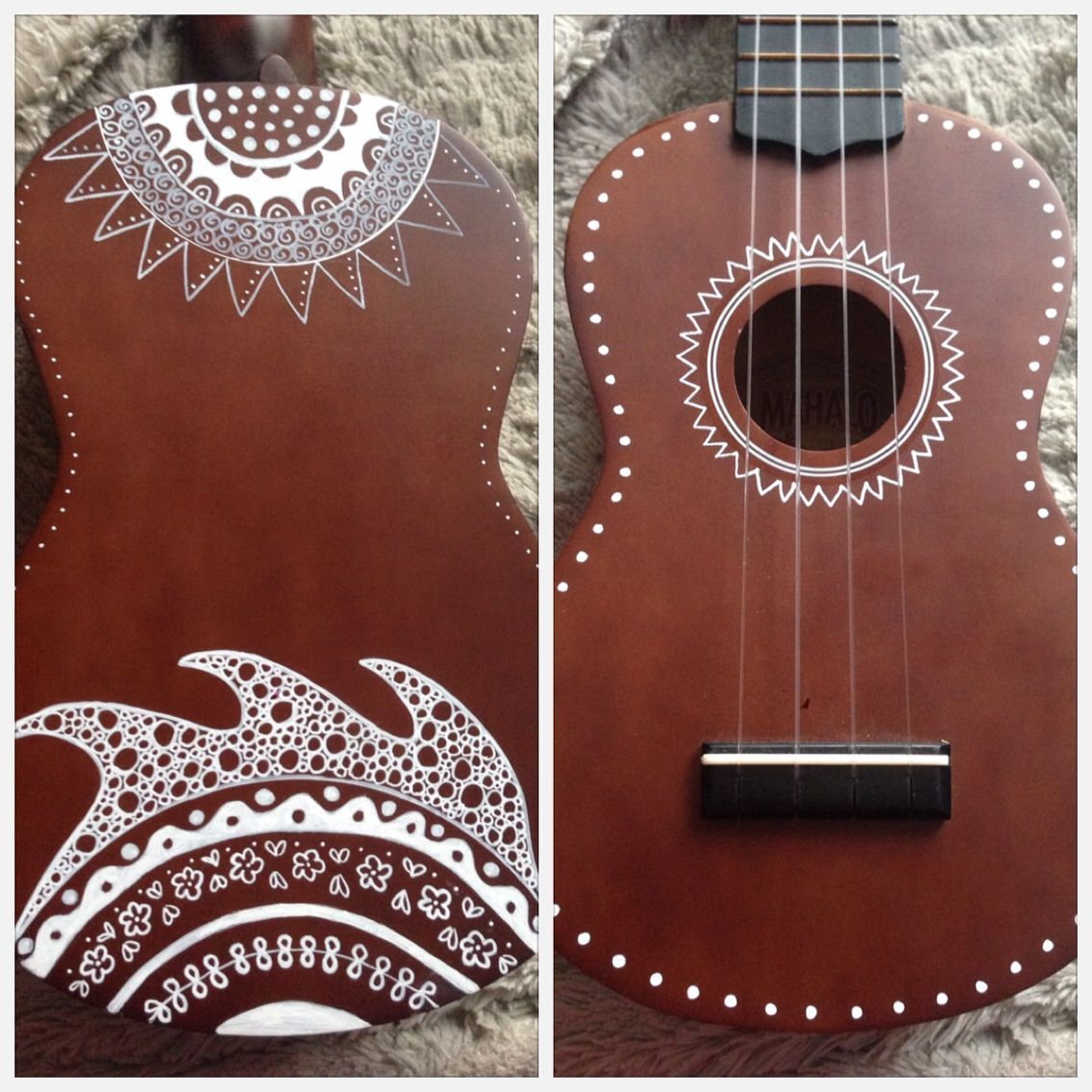 Hand painted ukulele design inspired by zentangle this ukulele is hand painted ukulele design inspired by zentangle this ukulele is on display at arts hexwebz Images