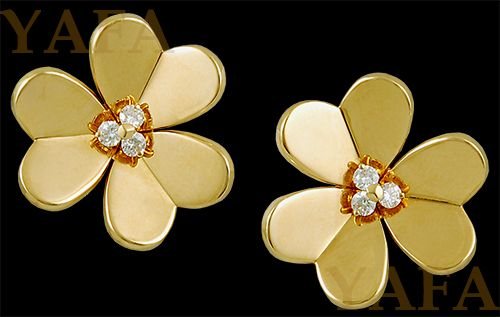 VAN CLEEF & ARPELS Diamond Frivole Earclips - Yafa Jewelry