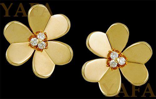 VAN CLEEF & ARPELS Diamond Frivole Earclips - Yafa Jewelry