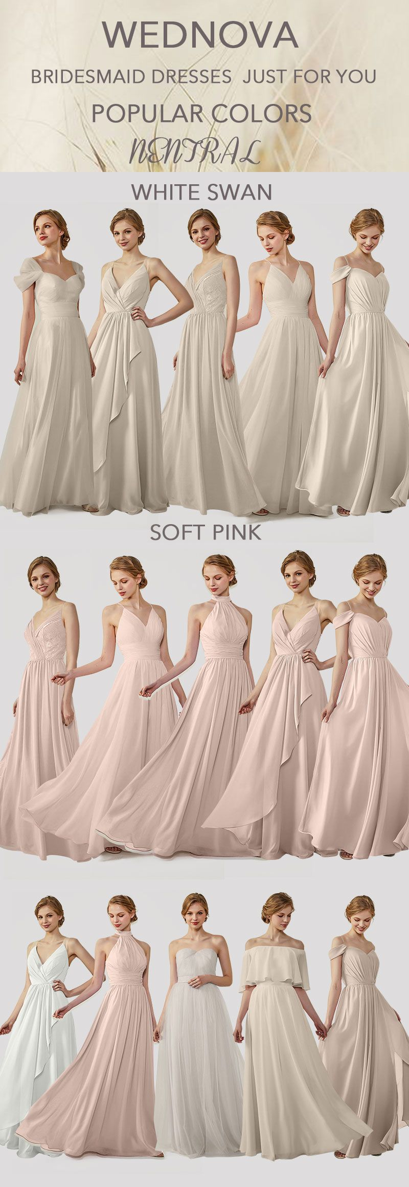Top chiffon bridesmaid dresses neutral v neck dress you can wear