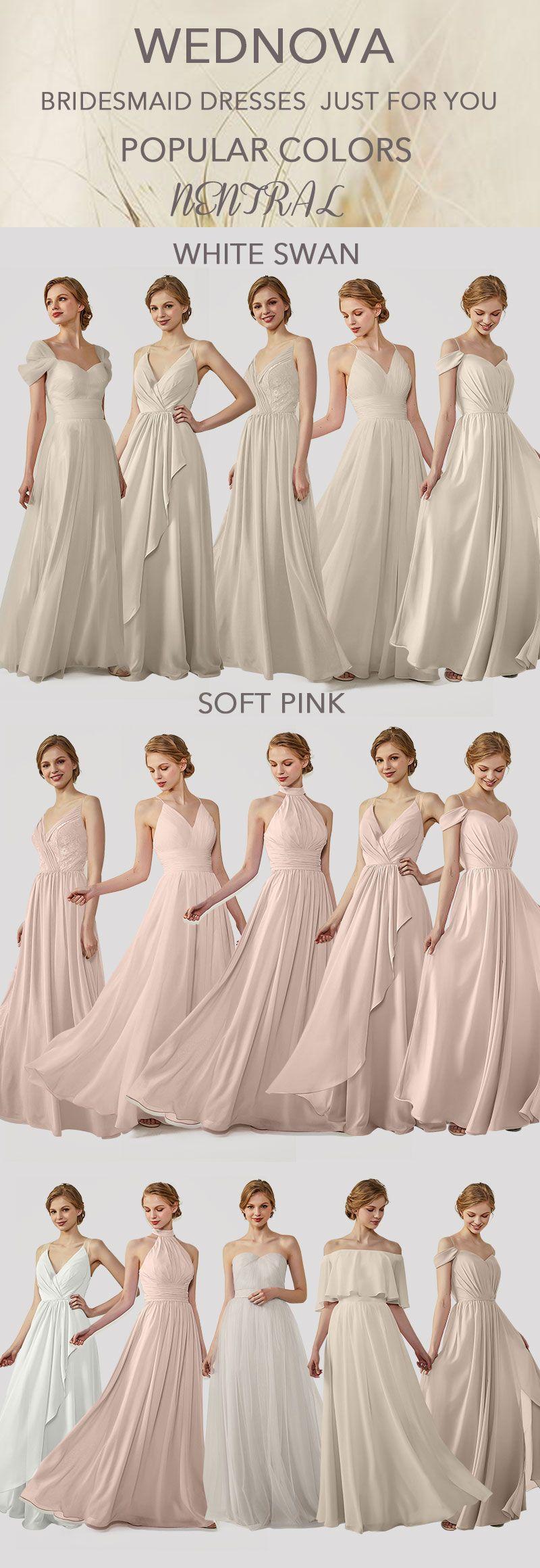 Top chiffon bridesmaid dresses neutral v neck dress you can wear