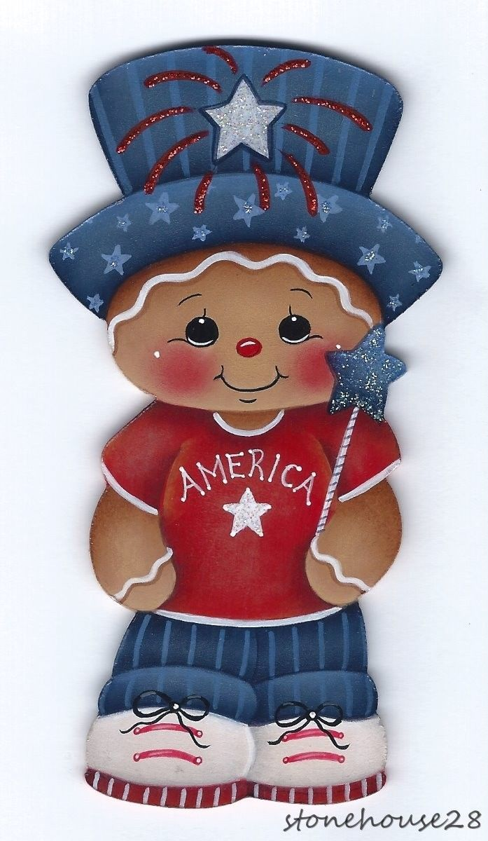 HP GINGERBREAD Patriotic Boy FRIDGE MAGNET | Artesanía, Pintar y ...