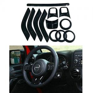 Danti Complete Black Interior Trim Kit For Jeep Wrangler Jk