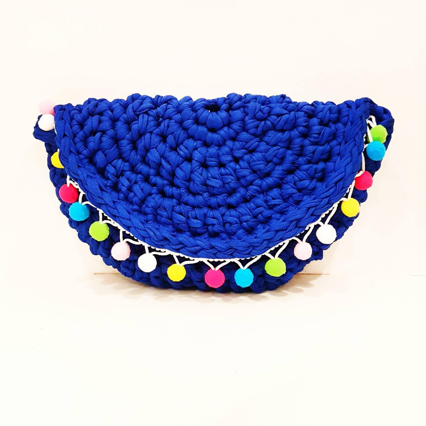 Make E seamless moon bag crochet pattern UK pdf download