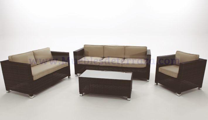 Sofas De Terraza En Varias Medidas Rattan Sintetico Y Cojines Outdoor Furniture Sets Outdoor Furniture Furniture