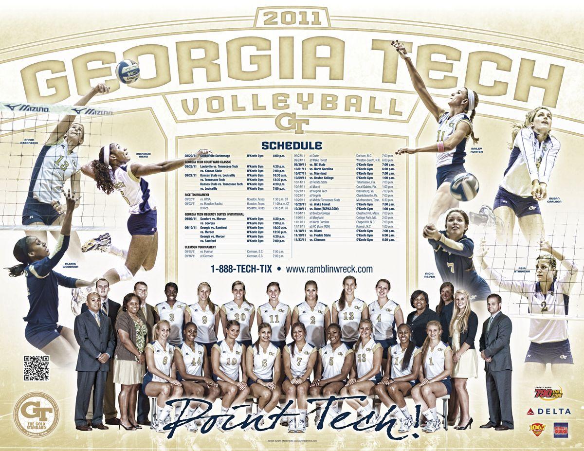 2011 Georgia Tech Volleyball Poster Georgia Tech Georgia Tech Yellow Jackets Volleyball Posters