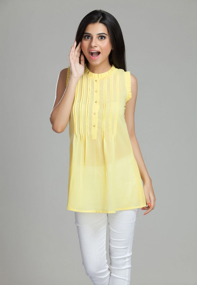 Be the centre of attraction wherever you go wearing this yellow ...