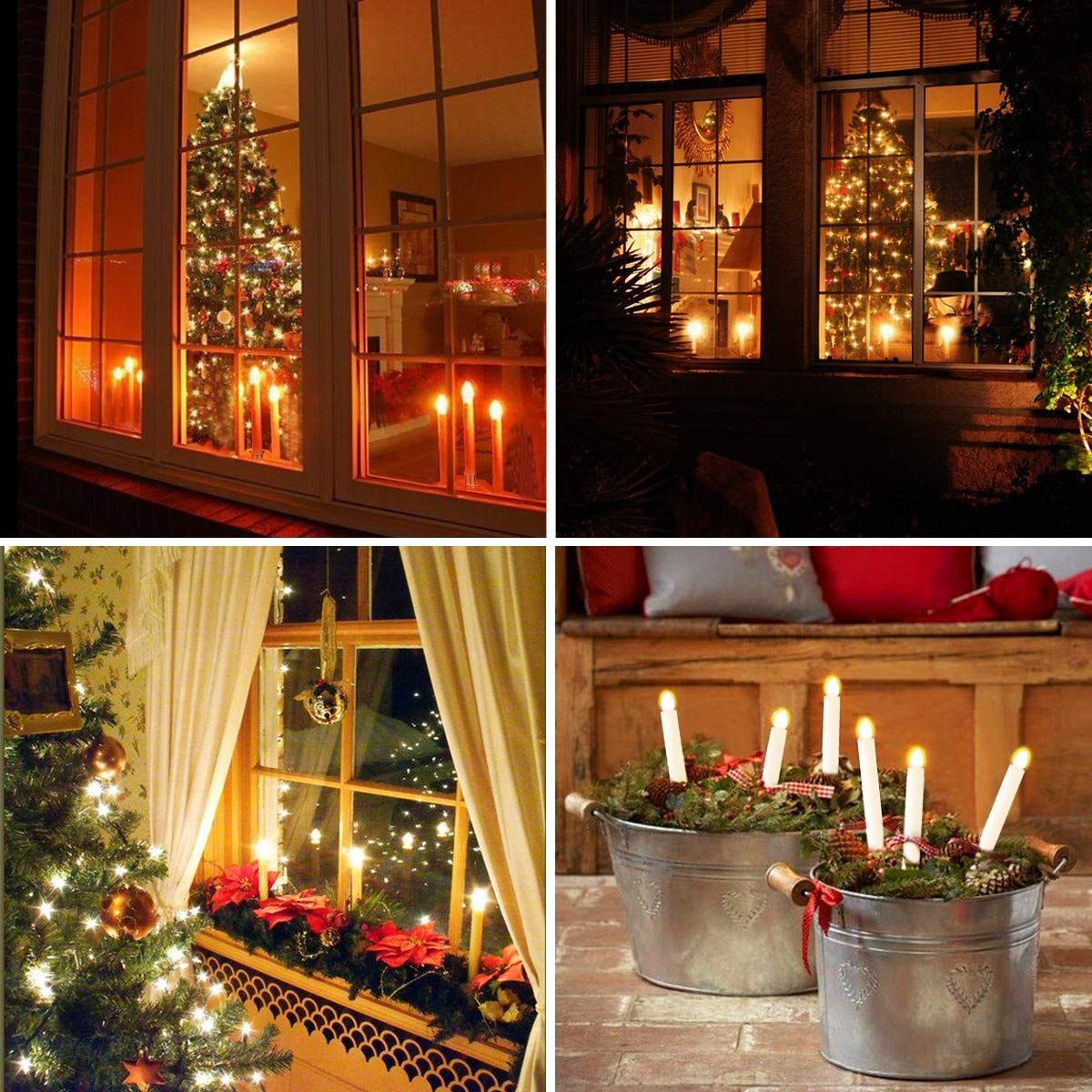Amazon Com Christmas Window Candles Lights Yunlights 12 Pack Battery Operated Fl Window Candle Lights Christmas Window Candle Lights Christmas Window Candles
