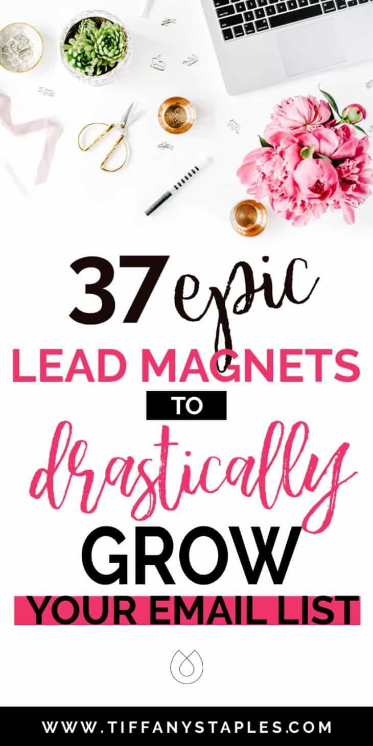 37 KILLER Lead Magnet Ideas to SERIOUSLY Grow Your