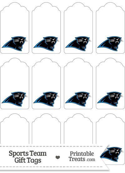 Carolina Panthers Gift Tags from PrintableTreats.com | Football ...