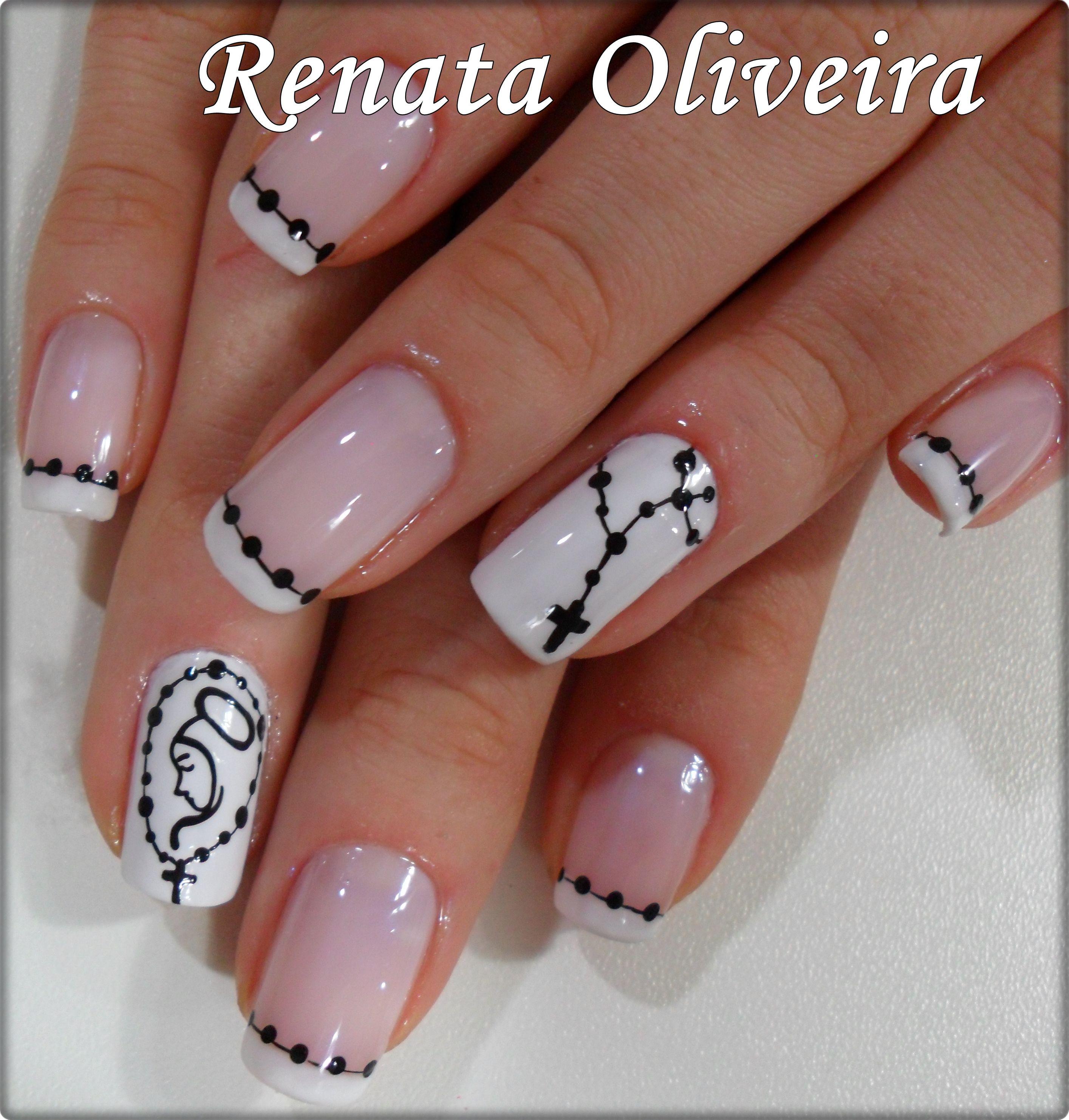 Nail art religiosa, amei!!!! | Uñas | Pinterest