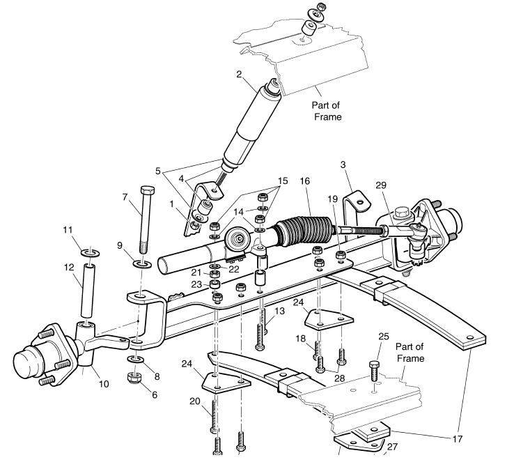 Golf Cart Steering Diagram