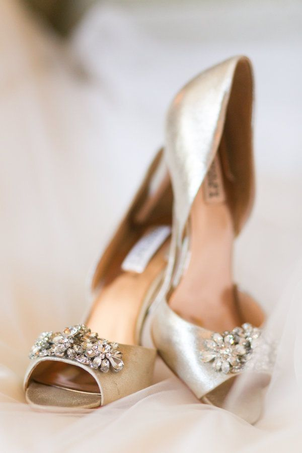 Gold embellished stilettos: http://www.stylemepretty.com/new-jersey-weddings/morristown/2017/03/14/bride-surprises-grandmother-by-using-50-year-old-cake-topper/ Photography: Mekina Saylor - http://mekinasaylor.com/