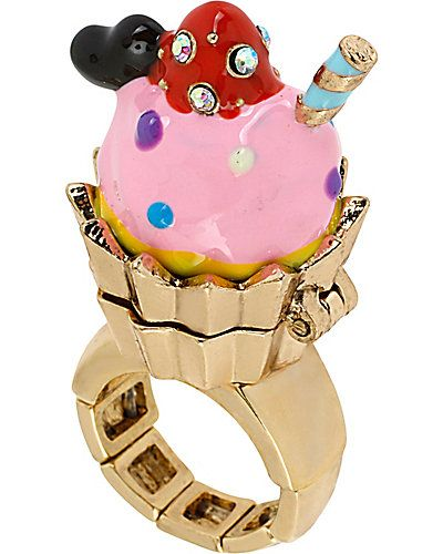 PARIS CUPCAKE STRETCH RING - Betsey Johnson 2013
