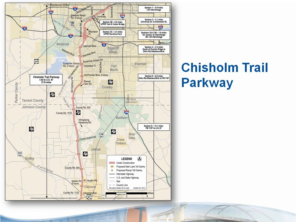 The Chisholm Trail Parkway Is A Mile Toll Road That Will - Us tollway map