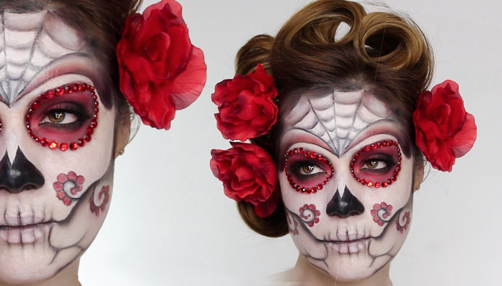 Sugar Skull Face paint tutorial. Dia de los muertos (Day