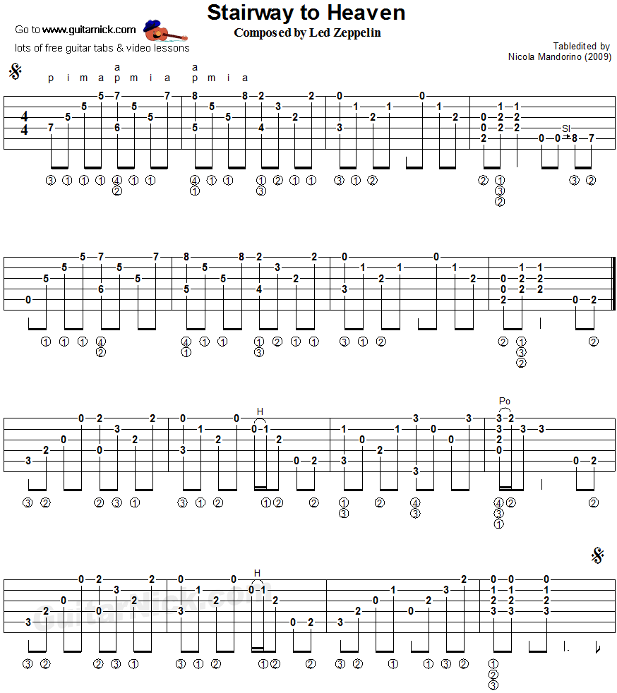 Stairway To Heaven - Led Zeppelin Guitar Lesson Tutorial ...