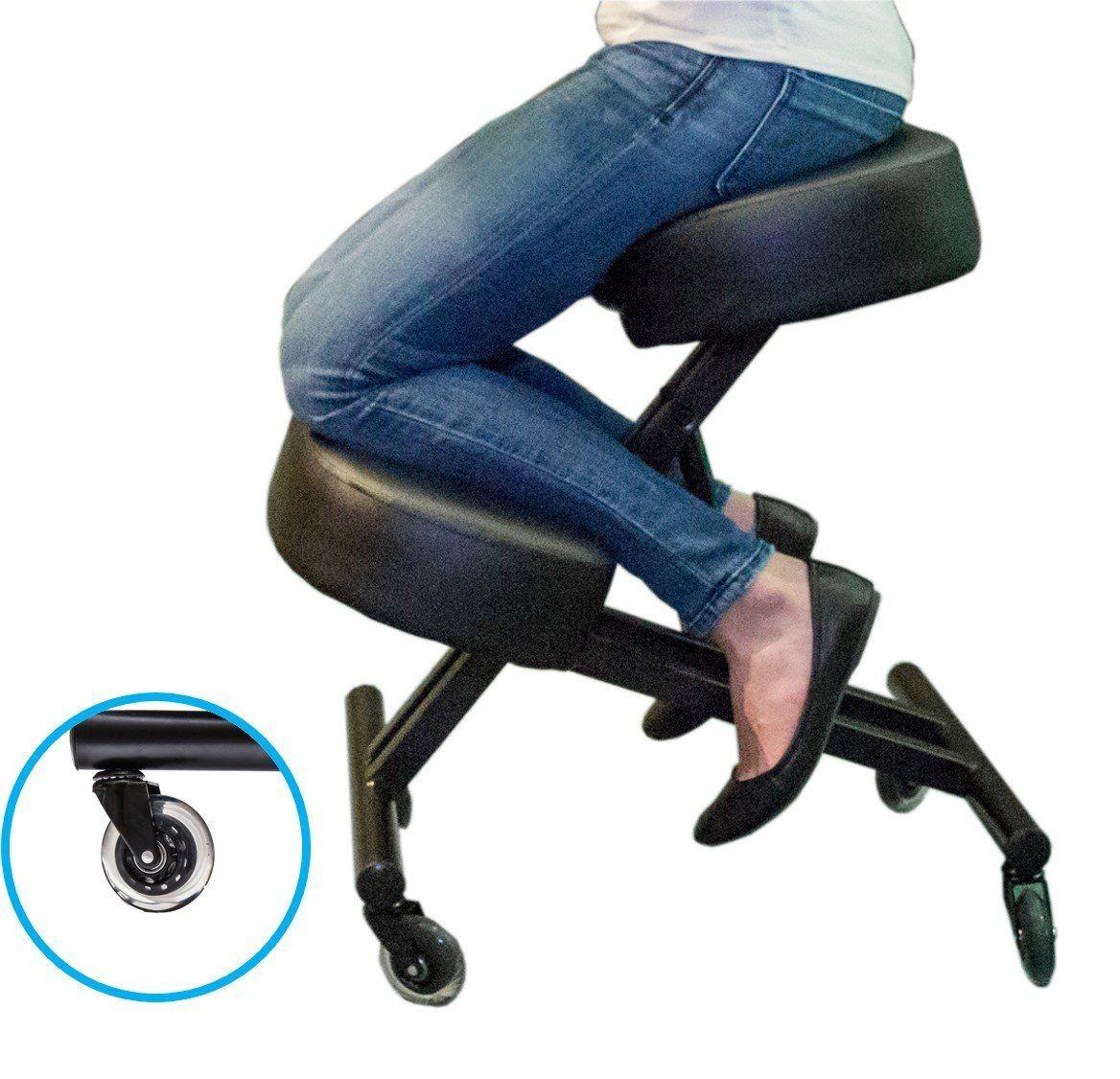 Ergonomic knee stool relieving back kneeling chair
