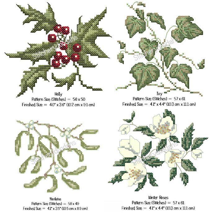 All 4 of the Christmas cross stitch patterns from stitcherydoodahs ...