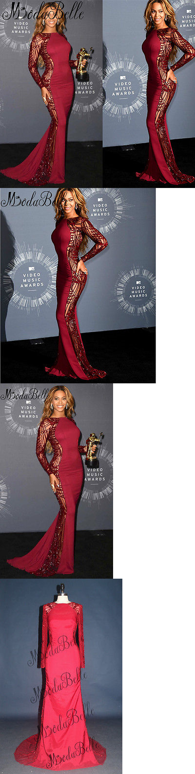 Beyonce Dresses: Beyonce Sexy Mermaid Celebrity Dresses Evening Wear Long Dress Formal Gowns 2017 BUY IT NOW ONLY: $177.65