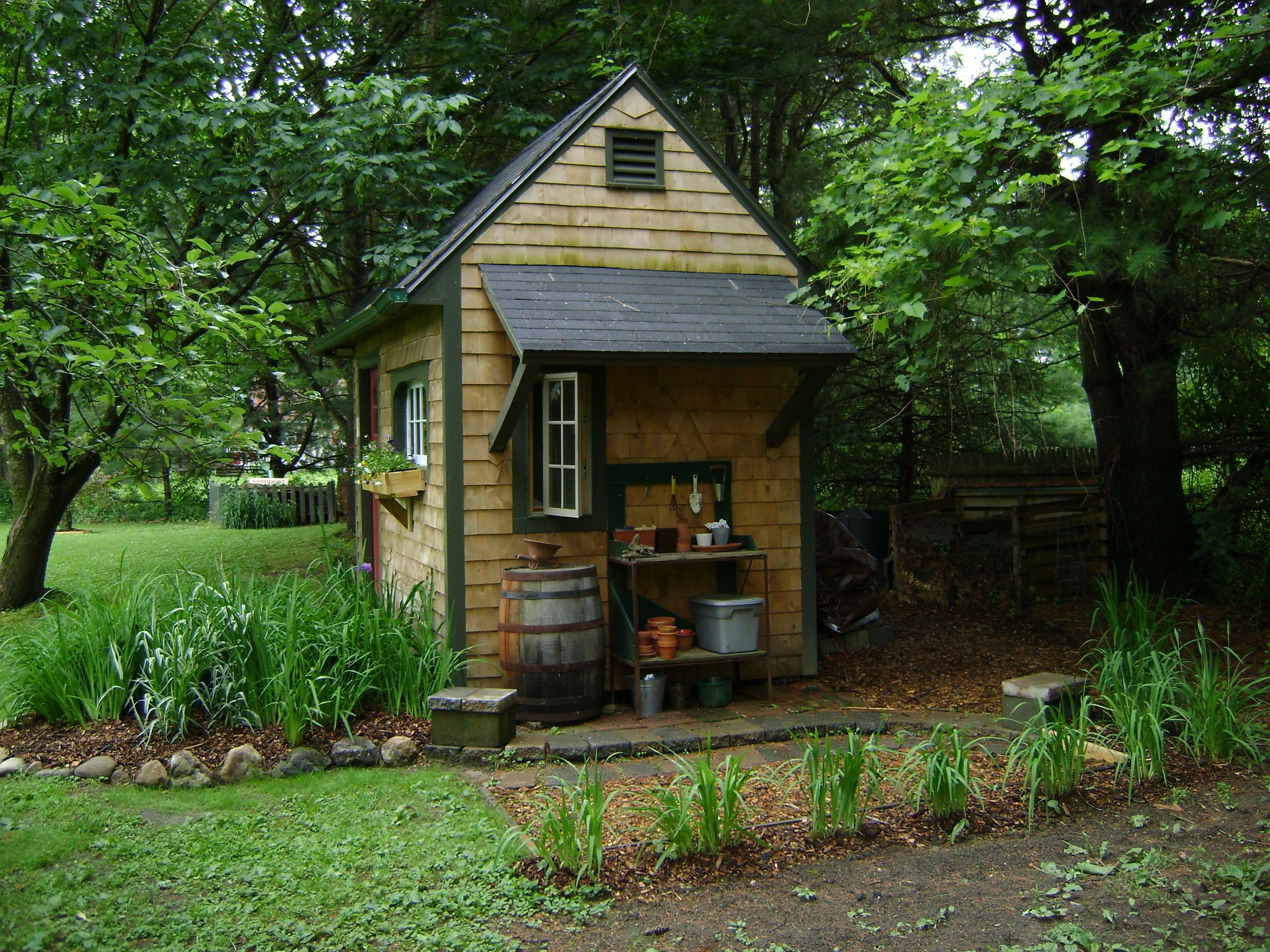 Potting Shed | Small garden pots, Shed, Small garden