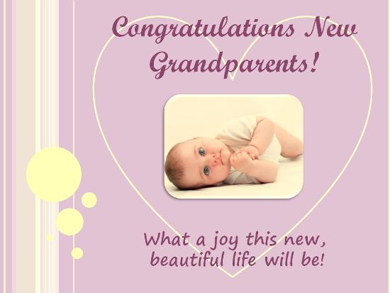 A Congratulations Ecard For The Grandparents Of A New Grandchild See