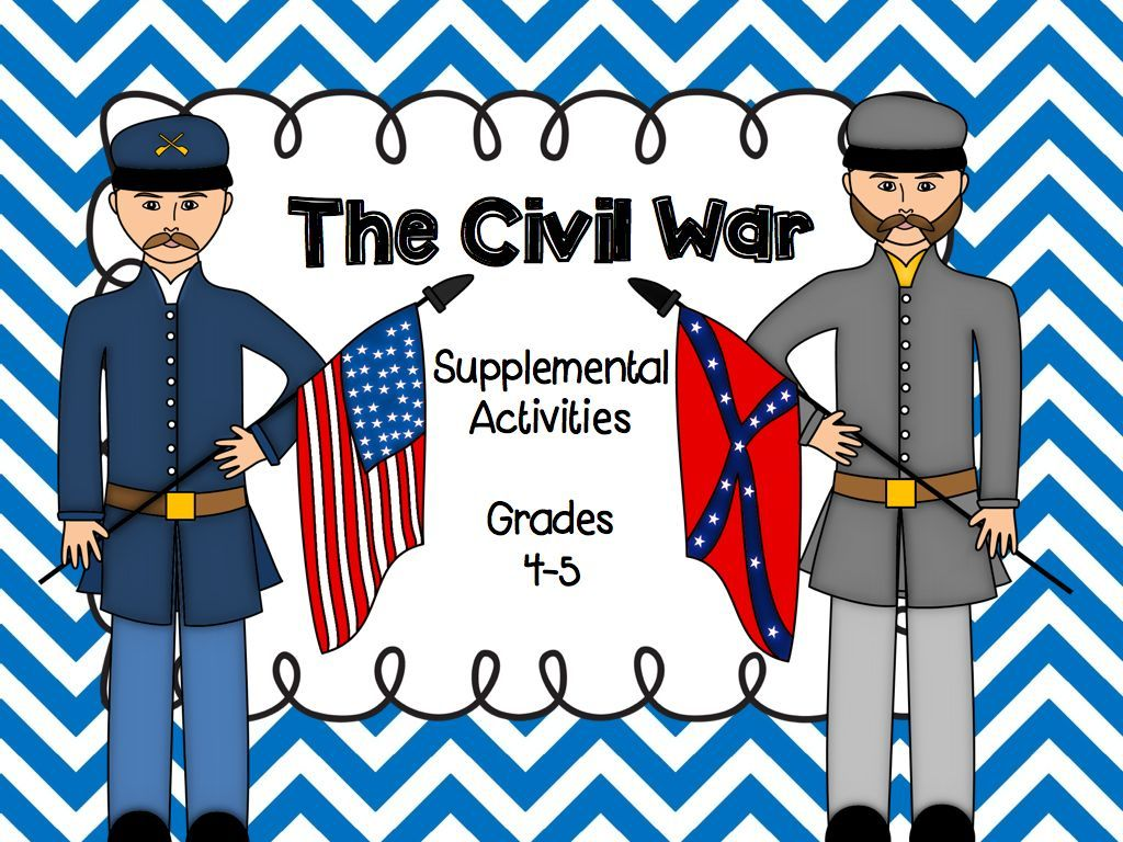 The Civil War Unit Supplemental Activities For Grades 4 5 A Student Research Book Is Also