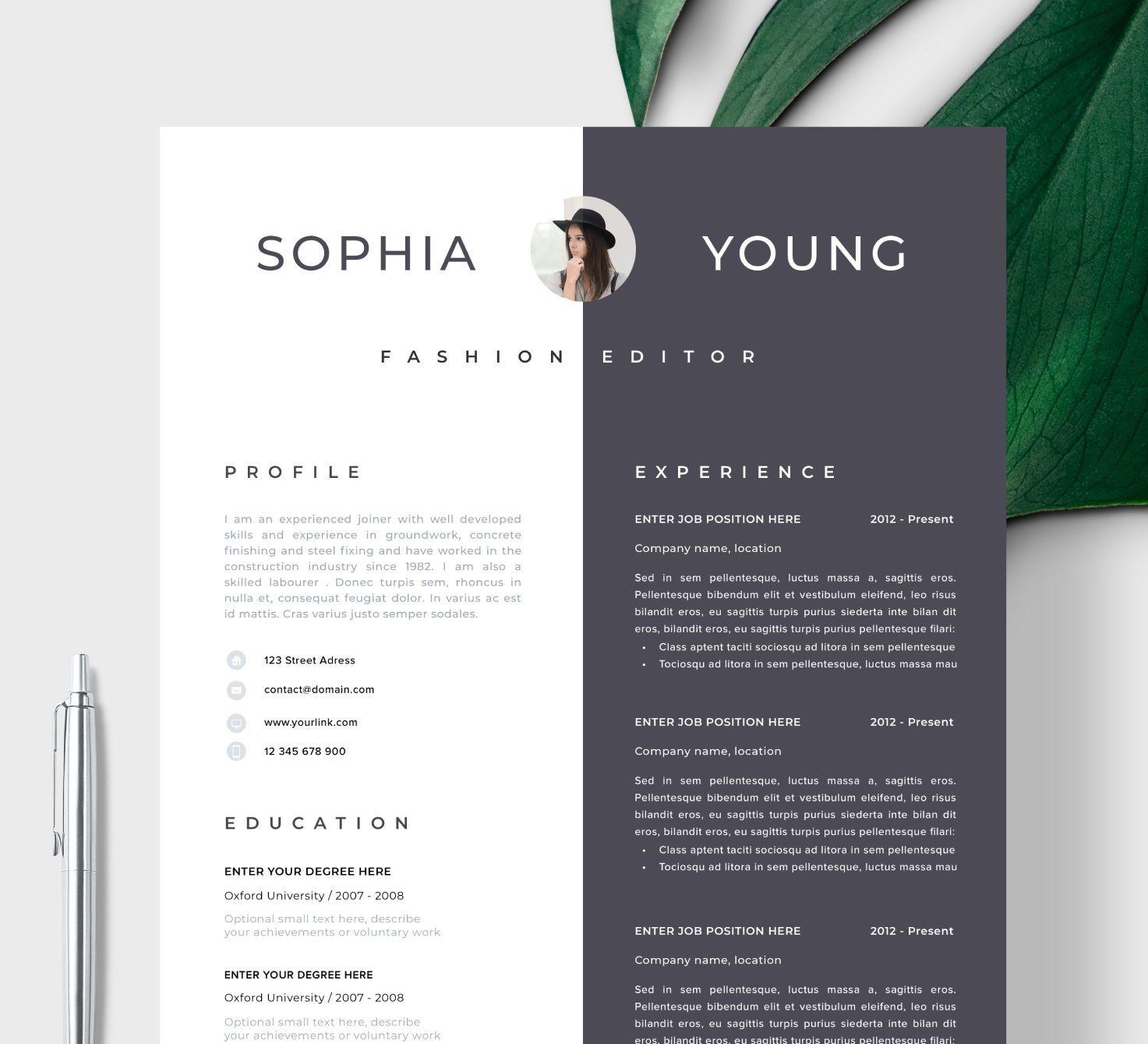 Resume Template Resume Cv Template Cv Design