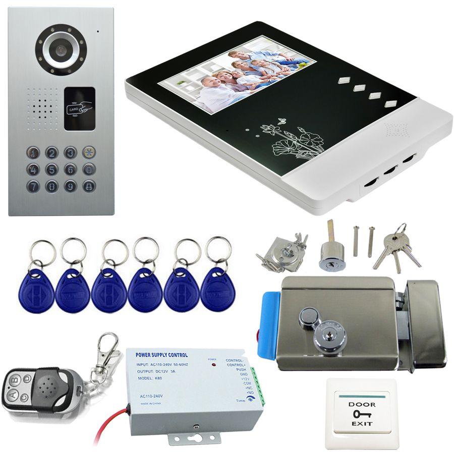 Intercom Rfid Video Camera Remote Control Video Phone Password
