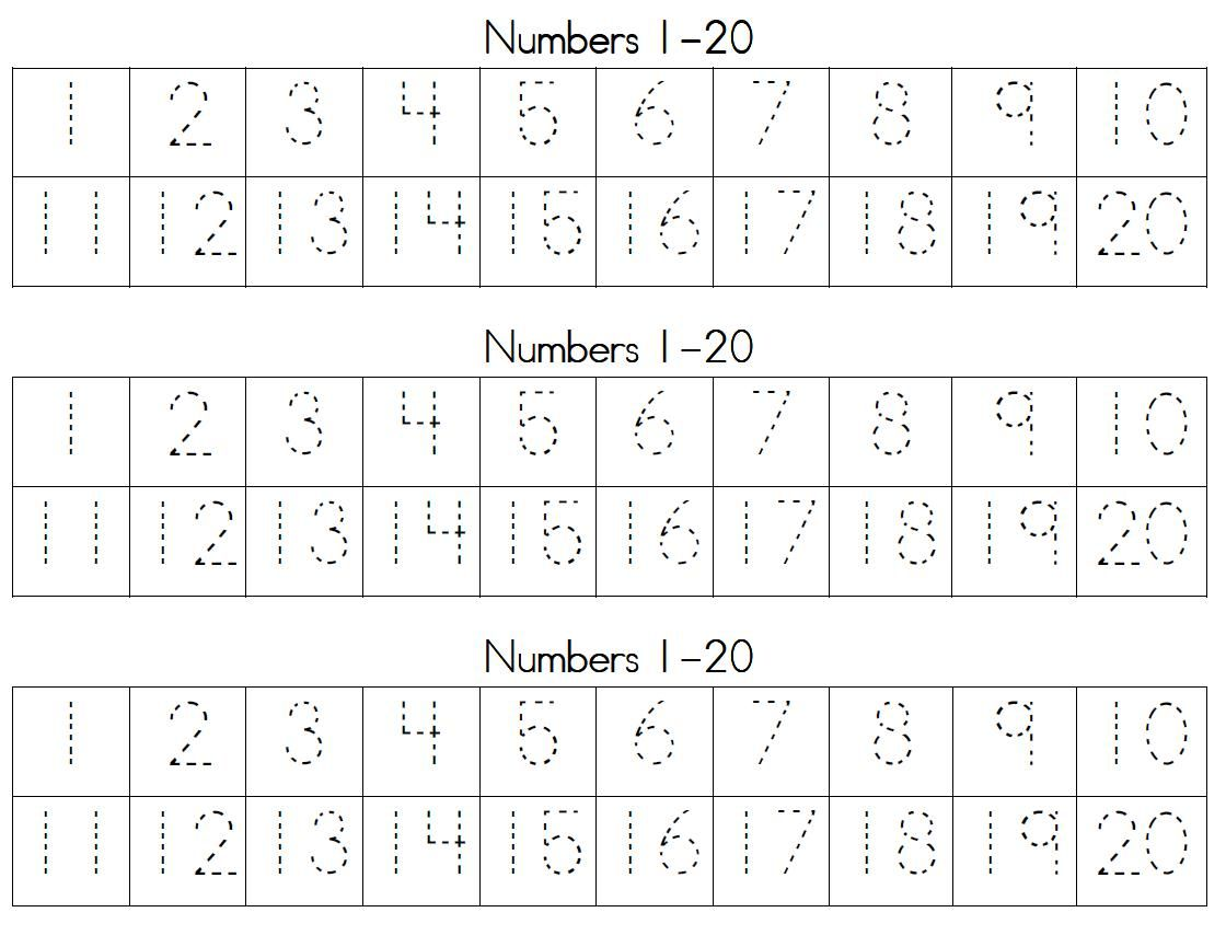Printables Writing Numbers With Handwriting Numbers 1 20