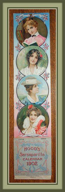 "Rare 1902 Hood's Calendar, ""Columbia's Daughters""   Flickr - Photo Sharing!"
