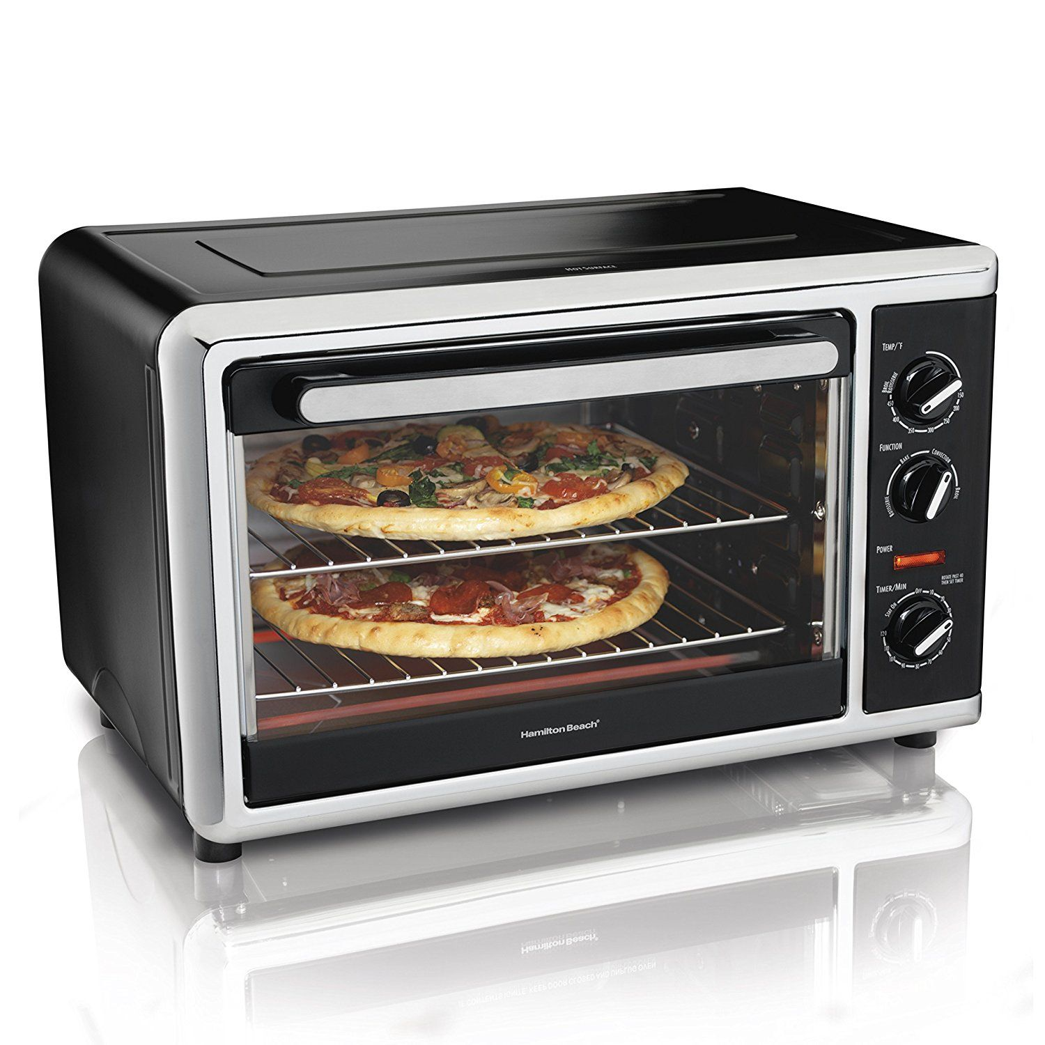 Hamilton Beach 31105hb Countertop Oven With Silver Black Click Image For More Details With Images Countertop Convection Oven Countertop Oven Countertop Toaster Oven