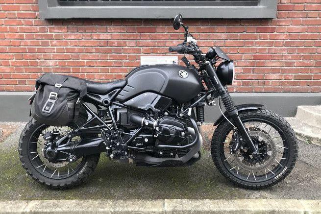BMW R Nine T Scrambler Black BOOTLEGGER Par Modification Motorcycles