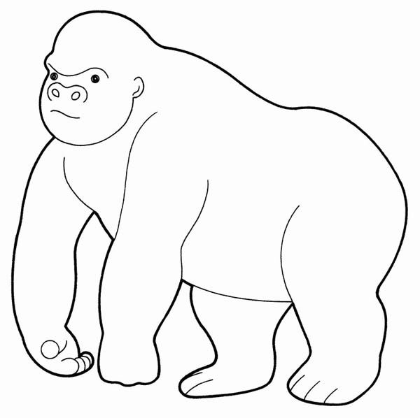 Giant Gorilla Coloring Page