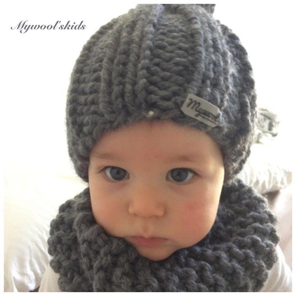 63b5b6dc30ec1 Cuellos de lana para niños. Gorros. Hecho a mano. Handmade. Madeinspain.  Www.mywool.es