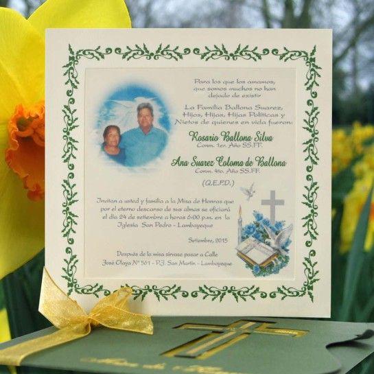 Invitación Para Misa De Honras Hr 56870 Angels Graphic