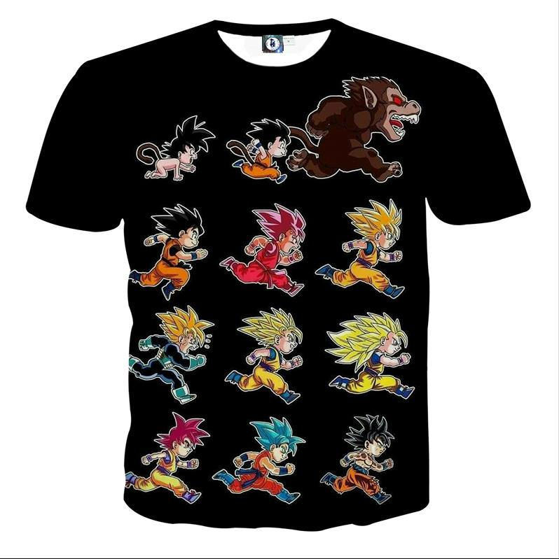 6a5bac98c768 Dragon Ball Anime Son Goku All Form Transformation T-shirt #DragonBall  #Anime #Goku #All #Form #Transformation #T-shirt