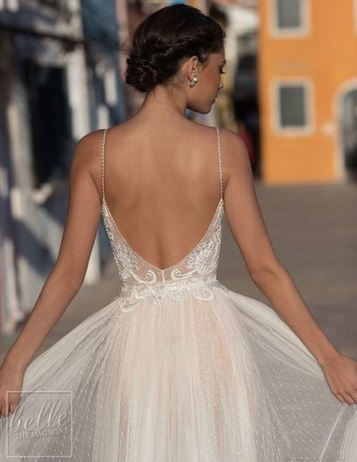 #hochzeit karten Wedding-Dresses Bridal-Gown Apparition Vestido-De-Noiva Beach Bashful Dot Lace Backless Beach Wedding Dresses #shortbacklessdress