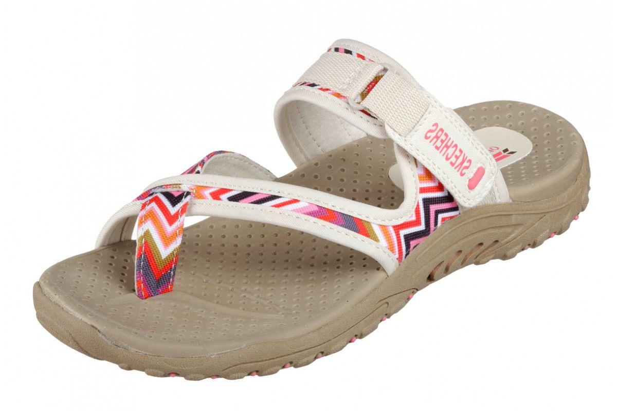 8166c82b967e Skechers Reggae Zig Swag Natural Cream Pink Women s Sporty Comfort Sandals