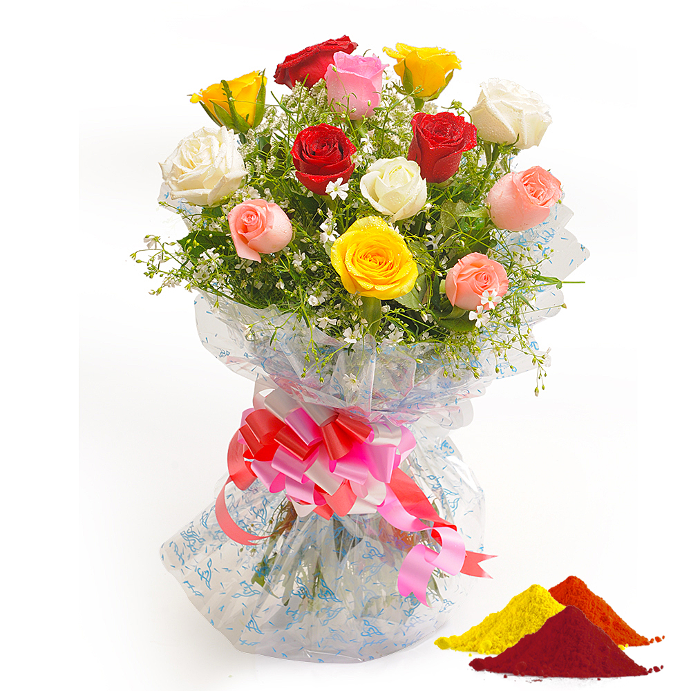 Check out our new product colorful hue holi holi special 10 mix check out our new product colorful hue holi holi special 10 mix roses and 2 cheap flower deliveryonline izmirmasajfo