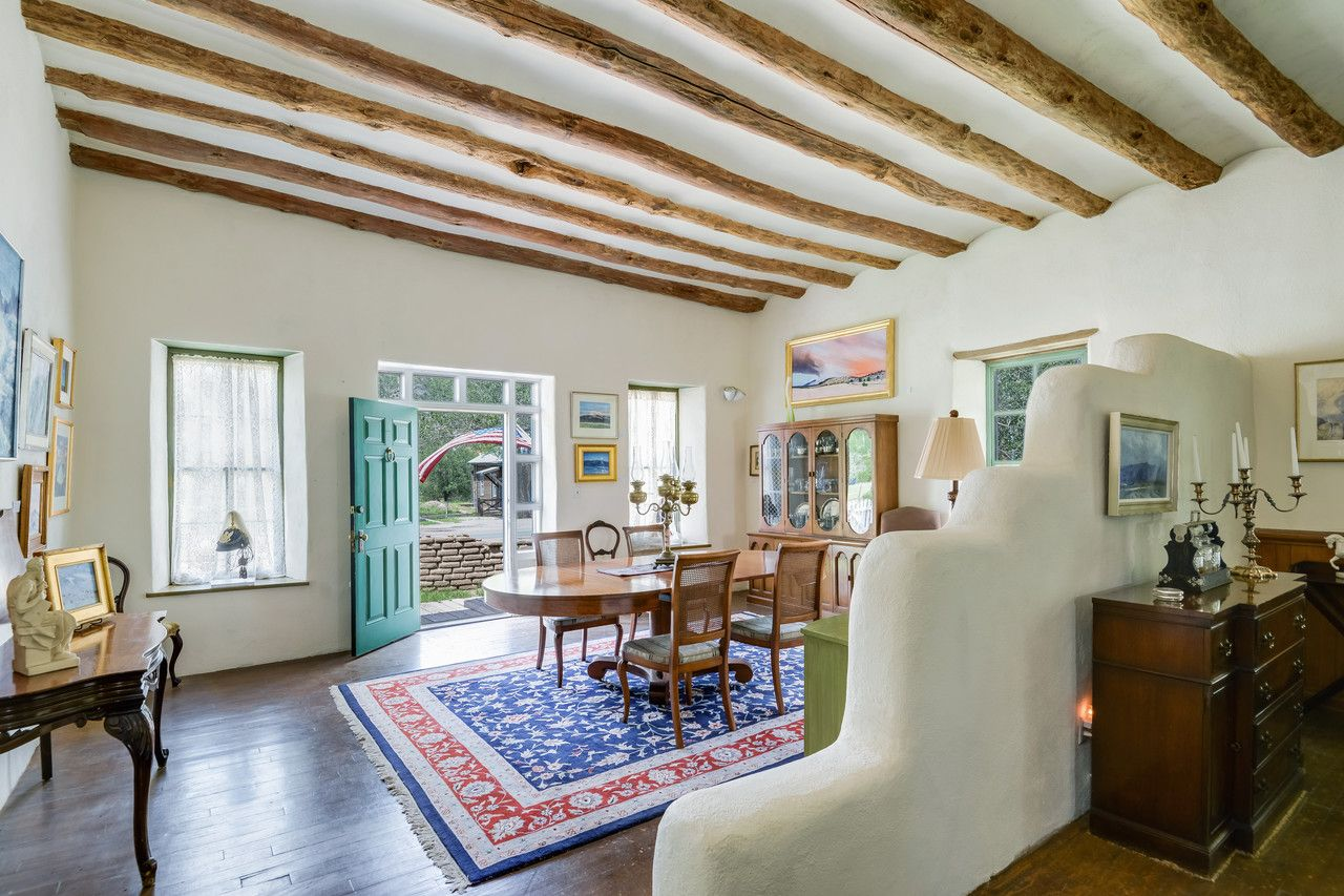A historic home from the old west hand hewn beams door opener and