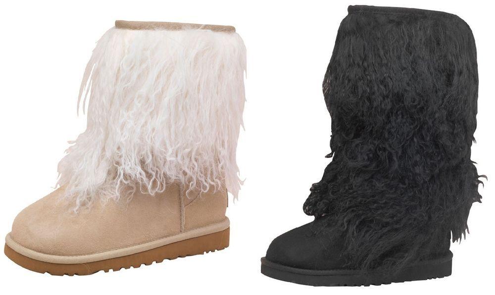 Ugg Sheepskin 100% Original Cuff Boots Sand & Black Short & Tall **Brand New** #UGGAustralia