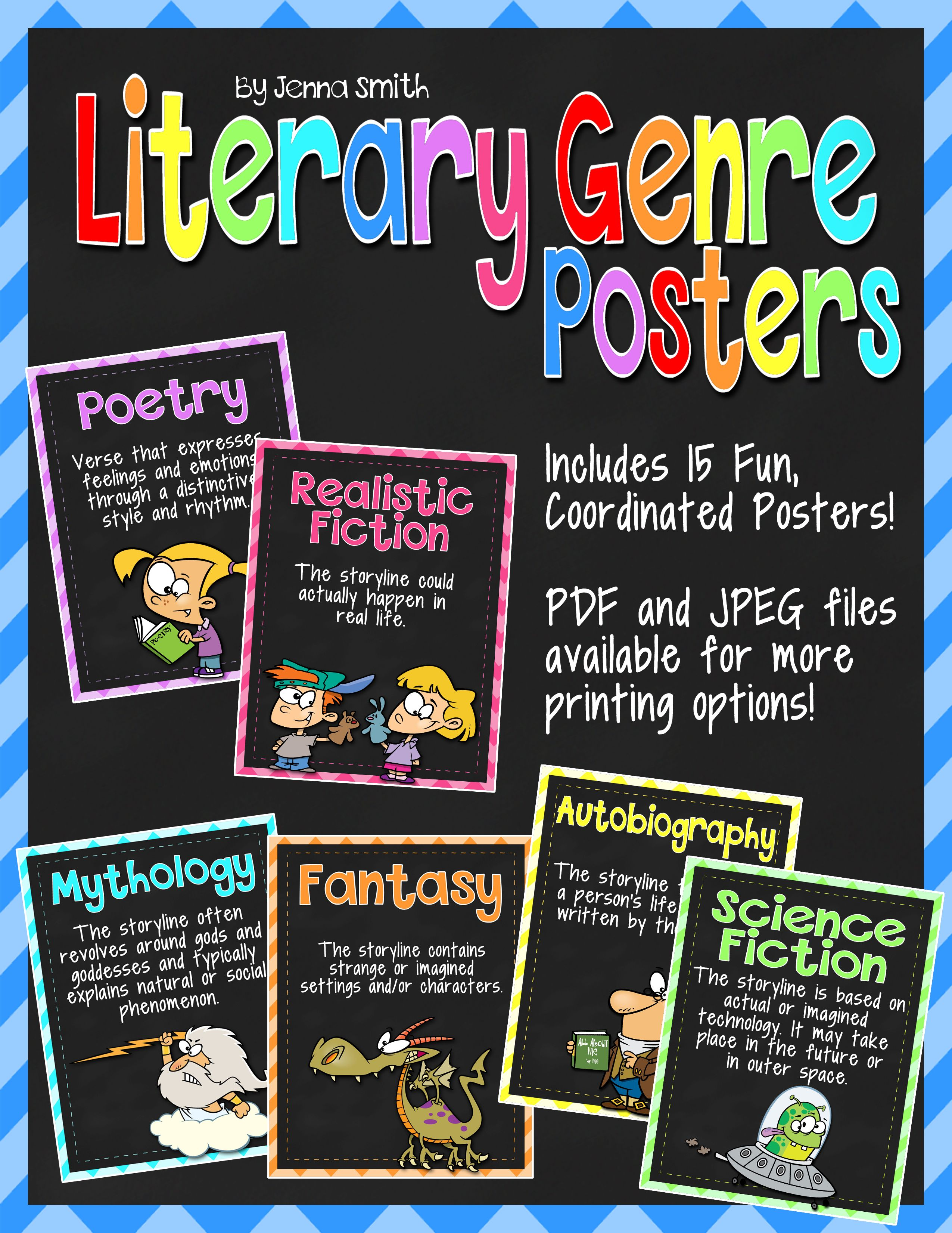 Literary genre posters genre posters literary genre and