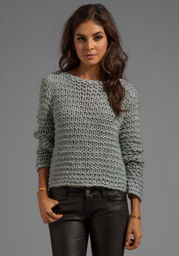 CHEAP MONDAY Cher Sweater in Grey Melange